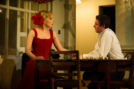 Young Vic - Hattie Morahan and Dominic Rowan in A Doll's House. Photo by Richard Hubert Smith.